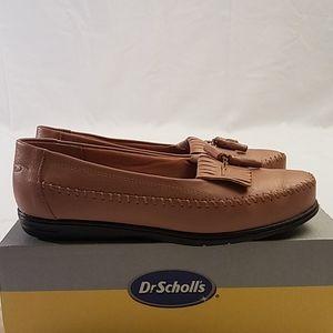 Womens Dr Sholl's Kiltie Leather Tassel Loafers